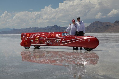 KillaJoule electric sidecar streamliner