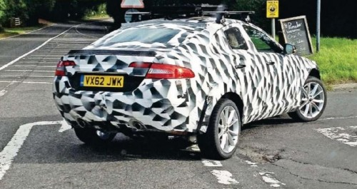 Jaguar XQ mule spy photo