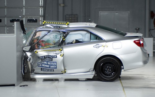 2013 Toyota Camry during IIHS-test