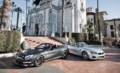 mercedes-benz sl63 amg and bmw m6 convertible