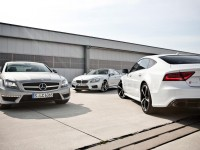 2014 Mercedes-Benz CLS63 AMG S-Model 4MATIC, 2014 BMW M6 Gran Coupe, and 2014 Audi RS7