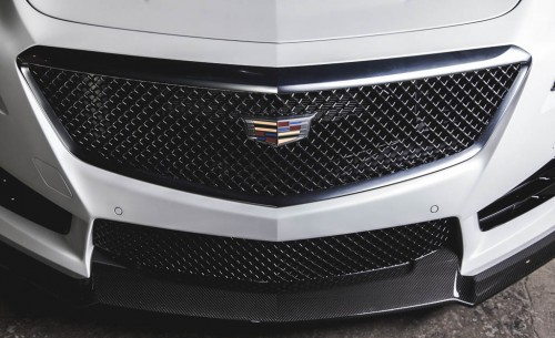 Pedestrians facing down this view of the CTS-V are safe