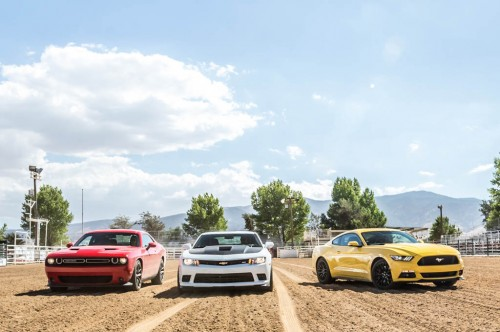 2015-chevrolet-camaro-ss-dodge-challenger-rt-scat-pack-ford-mustang-gt-front-end