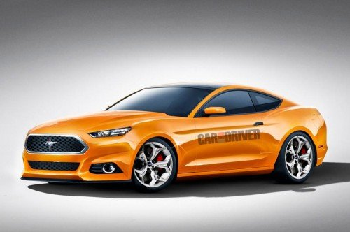 2015 Ford Mustang rendered by Car and Driver