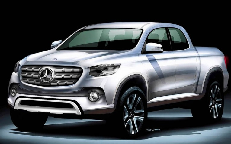 Mercedes-Benz pickup rendered