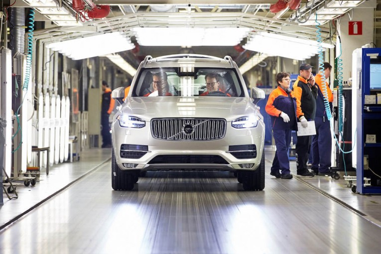 First series-produced new Volvo XC90 rolls off the line