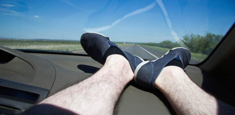 The One With Their Feet Up On The Dashboard