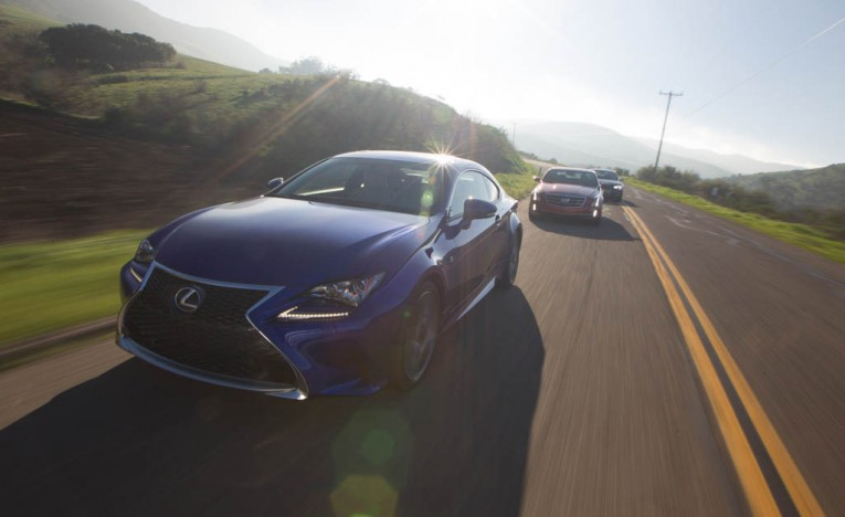 Cadillac ATS Coupe 3.6, Lexus RC350 F Sport, and Audi S5