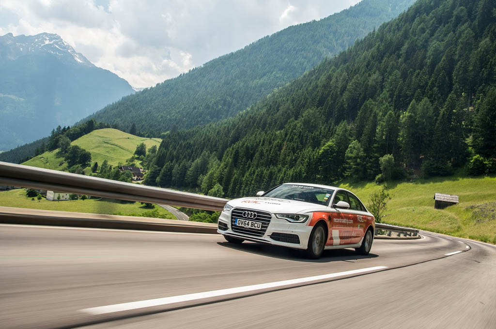 Audi A6 world record covered