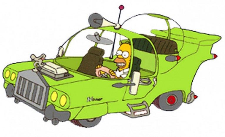 The Powell Motors Homer from The Simpsons