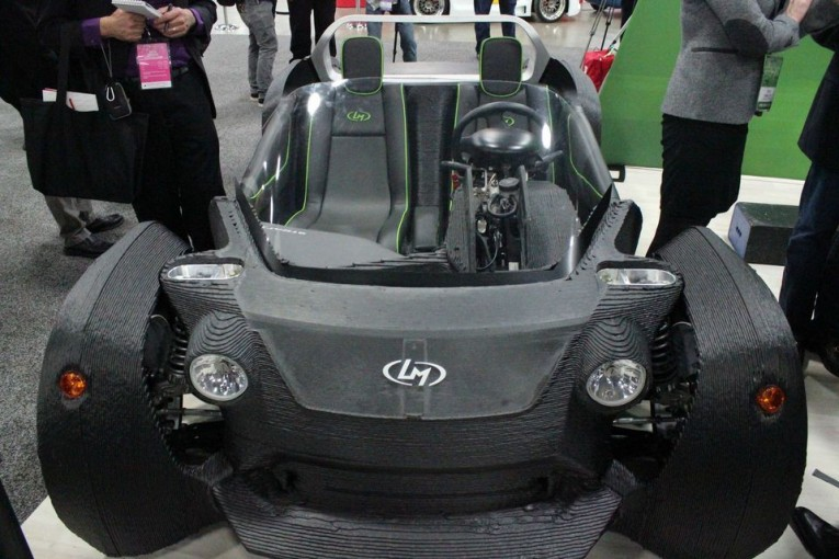 World's first 3D-printed car