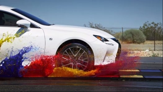 SLOW MOTION: LEXUS RC 350 F SPORT WITH ALL-WEATHER DRIVE