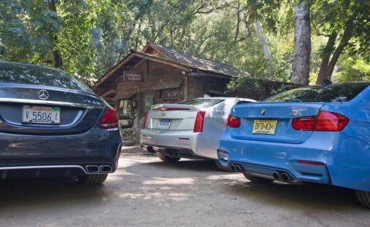 Mercedes-AMG C63 S-Model, BMW M3, and Cadillac ATS-V