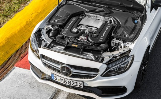 2017 Mercedes-AMG C63 coupe twin-turbocharged 4.0-liter V-8 engine