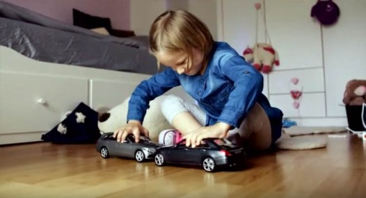Clever Mercedes Safety Ad Gives Kids Uncrushable Toy Cars