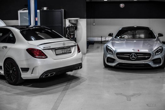 Mercedes AMG GT S and C63 AMG by PP-Performance