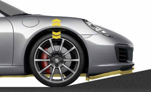 The 911 Carrera now offers a system to lift the front end