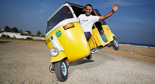 Indian Sets Guinness World Record For Two Wheel Driving In His Tuk Tuk