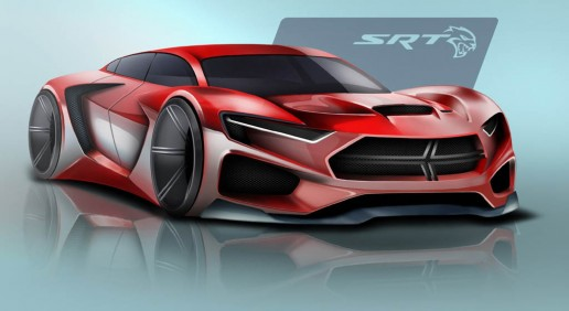 Dodge SRT Concept Design Sketch by Ben Treinen