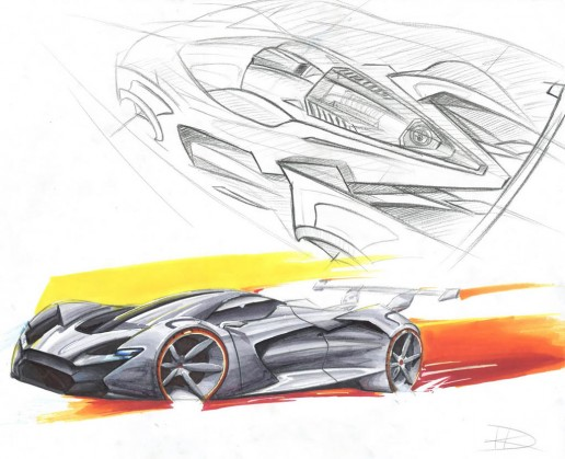Dodge SRT Concept Design Sketch by Harrison Kunselman