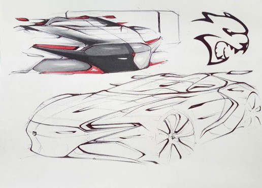 Dodge SRT Concept Design Sketch by Andrew Gombac