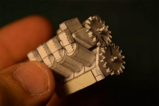 Tiny Paper V-8 Engine