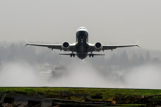 Boeing 737 MAX takes off