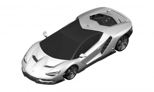 official patent designs of the Lamborghini Centenario LP 770-4
