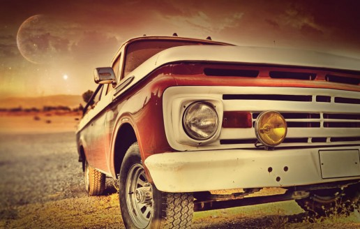 Vintage Car HD Desktop Background