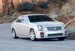2005-Cadillac-CTS-V-front-three-quarter-in-motion
