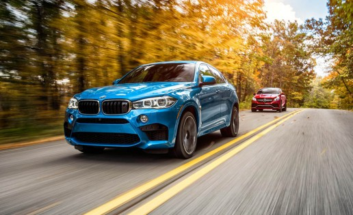 2015 BMW X6 M and 2016 Mercedes-AMG GLE63 S coupe