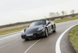 2017-Porsche-718-Boxster-front-three-quarter-in-motion-05