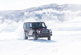 2016-Mercedes-Benz-G550-front-three-quarter-in-motion-02