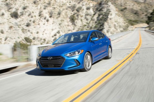 2017-Hyundai-Elantra-Limited-front-three-quarter-in-motion-02