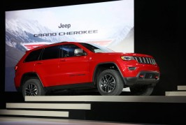 New York – March 23, 2016 – Mike Manley, head of Jeep® Brand – FCA Global, introduces the new Jeep Grand Cherokee Trailhawk at the New York International Auto Show. Arriving in Jeep showrooms this summer, new Grand Cherokee Trailhawk models feature Jeep's Quadra-Drive II 4x4 system with rear Electronic Limited Slip Differential (ESLD) for all powertrains, Quadra-Lift suspension, Hiss Ascent Control, skid plates, a unique black leather and suede interior and special Trailhawk badging. For more information contact Trevor Dorchies 248-512-3189.