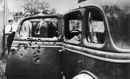 Bonnie-and-Clydes-bullet-riddled-death-car-600x364