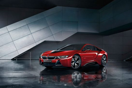 2016-BMW-i8-Protonic-Red-Edition-front-three-quarters
