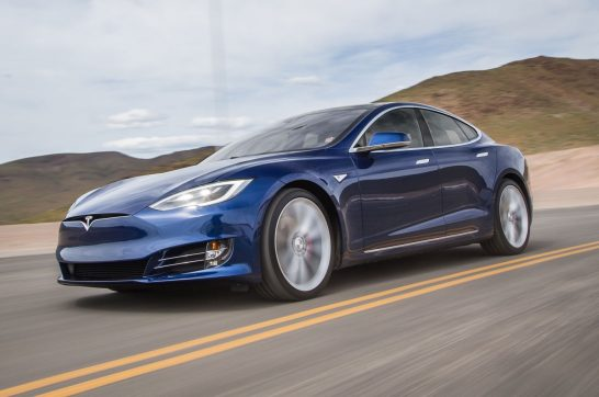 2016-Tesla-Model-S-P90D-front-three-quarter-in-motion