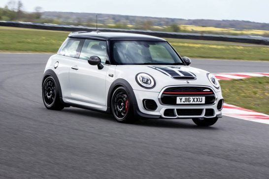 Mini-John-Cooper-Works-Challenge-front-three-quarters-action