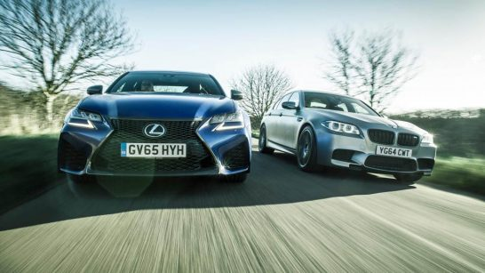 2016 Lexus GS F vs BMW M5