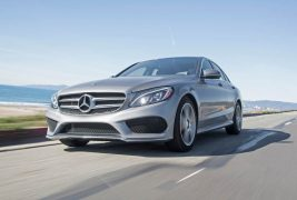 2016-Mercedes-Benz-C300-RWD-front-three-quarter-in-motion