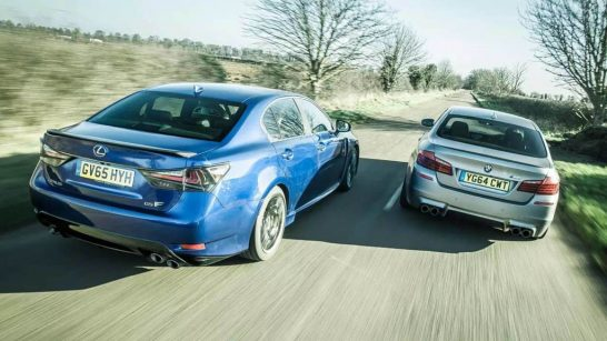 BMW M5 vs Lexus GS F  010