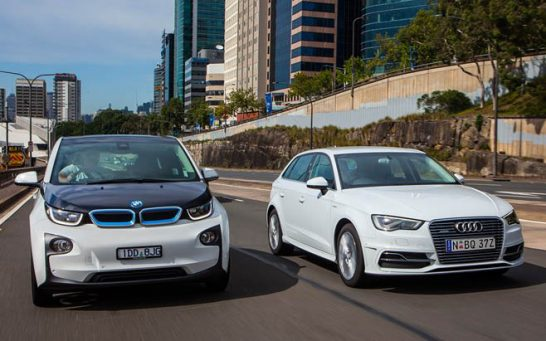 BMW-i3-vs-Audi-A3-e-tron-electric-cars