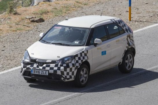 MG ZS spied