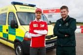 رقابت سباستین فتل با فراری 488 GTB در یک آمبولانس