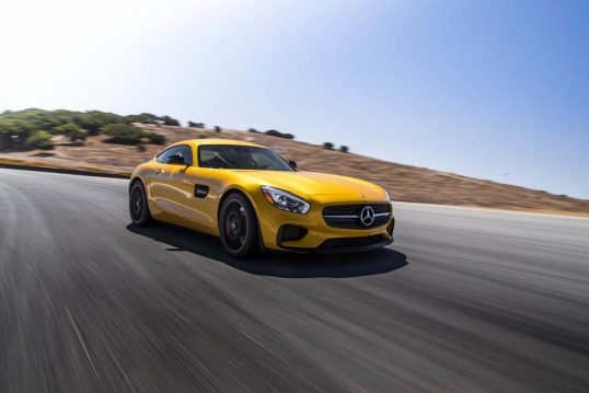 2016-Mercedes-AMG-GT-S-front-three-quarter-in-motion-02