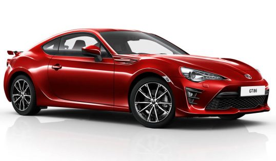 Facelifted Toyota GT86
