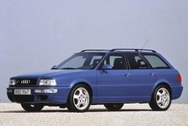 1994: first five-cylinder RS engine:In 1994, the most powerful five-cylinder production engine built by Audi to date goes into action in the Audi Avant RS 2 (B4). With turbocharging, fuel injection and standard-fit emissions control, it produces 232 kW (315 hp) at 6,500 revolutions per minute from a displacement of 2,226 cc and delivers 410 newton meters (302.40 lb-ft) of torque at 3,000 rpm.