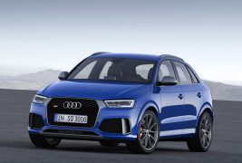 2015: 2.5 TFSI with gasoline direct injection, turbocharger and intercooler:In the summer of 2015, the second-generation RS 3 Sportback* appears – the most powerful car in the premium compact segment with an output of 270 kW (367 hp). The combination of turbocharging and direct injection permits a high compression ratio of 10:1 and correspondingly good efficiency. The five-cylinder inline engine delivers a maximum of 465 newton meters (342.97 lb-ft) to the crankshaft. This torque is available from as low as 1,625 revolutions per minute and remains constant up to 5,550 rpm. Since spring 2016, Audi has been using the optimized version of the powerplant in the Audi RS Q3 performance* too.