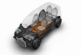 Chrysler Portal Concept mono-volume form and electric powertrain maximize interior space and reduces exterior footprint.